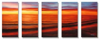 "Dafen Modern sunset glow oil painting on Canvas ""sunsetting232"""