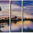 "Dafen Modern Sunset glow  oil painting on Canvas ""sunsetting234"""