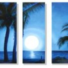 "Dafen Modern seascape oil painting on Canvas ""sunsetting238"""