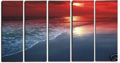 "Dafen Modern seascape oil painting on Canvas ""sunsetting241"""
