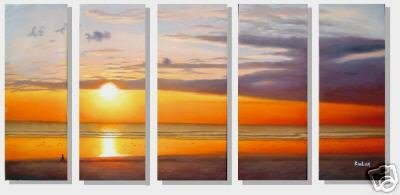 "Dafen Modern seascape oil painting on Canvas ""sunglow244"""