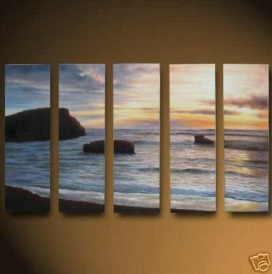 "Dafen Modern seascape oil painting on Canvas ""sunglow482"""