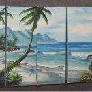 Dafen Modern seascape oil painting on Canvas the coast 506