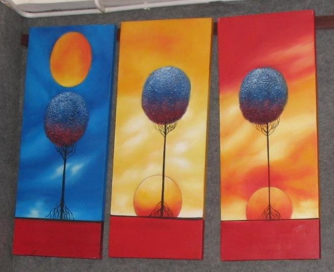 Dafen Modern Abstract oil paintings on Canvas Illusion painting 508