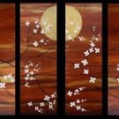 Modern oil painting on Canvas flower painting set127