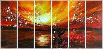 Modern oil painting on Canvas flower painting set459