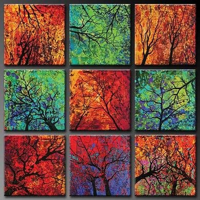 Modern oil painting on Canvas abstract painting set390