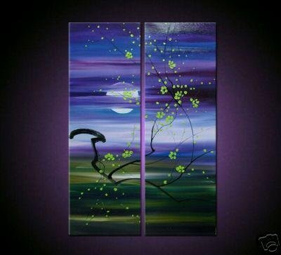 Modern oil painting on Canvas flower painting set036