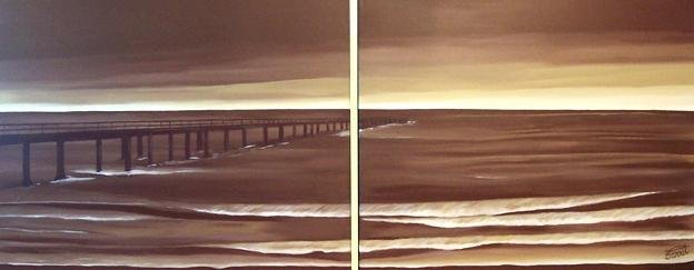Modern oil painting on Canvas  seascape painting 038