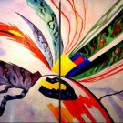 Modern oil painting on Canvas abstract painting set054