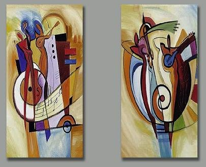 Modern oil painting on Canvas abstract painting set152