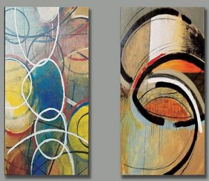 Modern oil painting on Canvas abstract painting set163