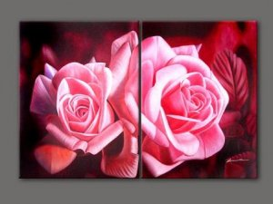 Modern oil painting on Canvas flower painting set197