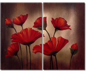 Modern oil painting on Canvas flower painting set312