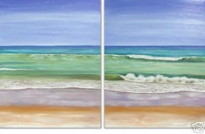 Modern oil painting on Canvas  seascape painting 326
