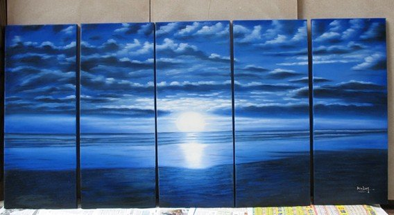 Modern oil painting on Canvas seascape painting set 250
