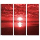 Modern oil painting on Canvas sunset glow painting set 252