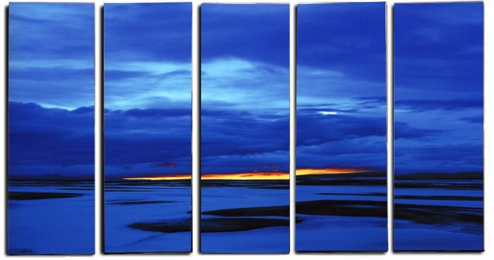 Modern oil painting on Canvas sunset glow painting set 314