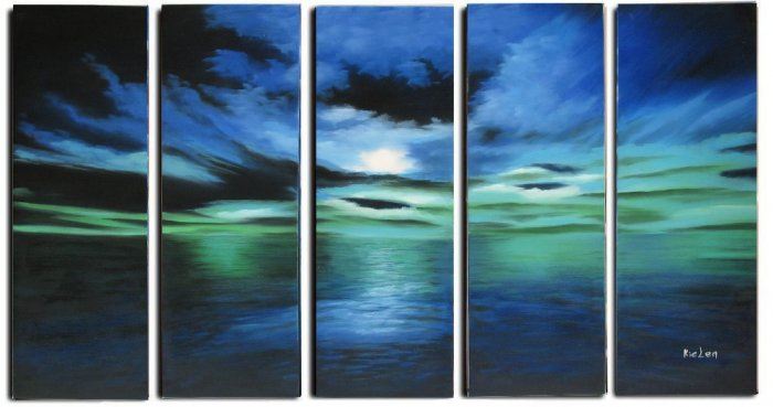 Modern oil painting on Canvas seascape painting set 317