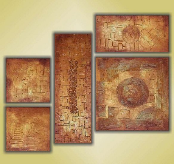 Modern oil painting on Canvas abstract painting set 355