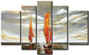 Modern oil painting on Canvas seascape painting set 362