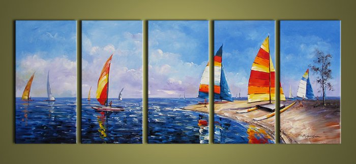 Modern oil painting on Canvas seascape painting set396
