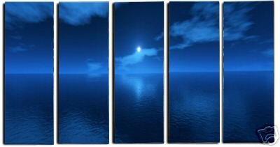 Modern oil painting on Canvas seascape painting set456