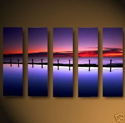 Modern oil painting on Canvas sunset glow painting set469
