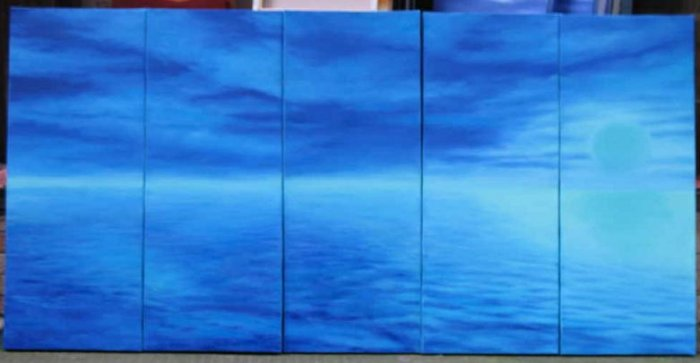 Modern oil painting on Canvas seascape painting set539