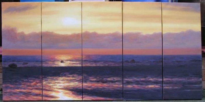 Modern oil painting on Canvas seascape painting set540