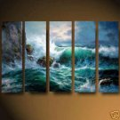 Modern oil painting on Canvas seascape painting set550