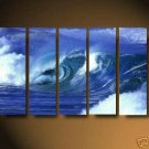 Modern oil painting on Canvas seascape painting set552