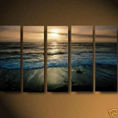Modern oil painting on Canvas sunset glow painting set553