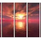 Modern oil painting on Canvas sunset glow painting set579