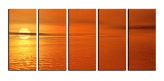 Modern oil painting on Canvas sunset glow painting set590