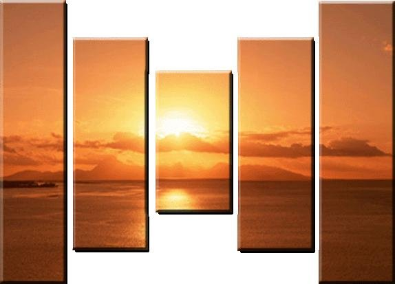 Modern oil painting on Canvas sunset glow painting set591