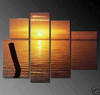 Modern oil painting on Canvas seascape painting set603