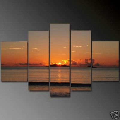 Modern oil painting on Canvas sunset glow painting set606