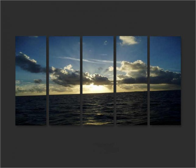 Modern oil painting on Canvas seascape painting set608