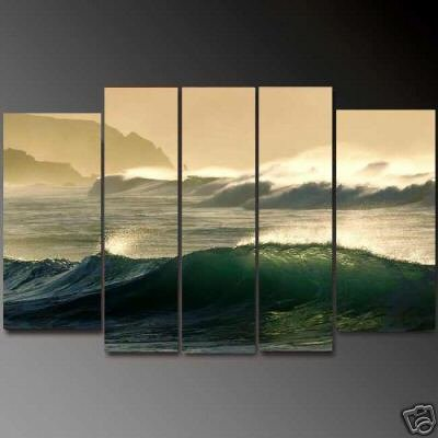 Modern oil painting on Canvas seascape painting set614