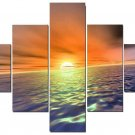 Modern oil painting on Canvas sunset glow painting set618