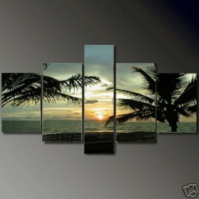 Modern oil painting on Canvas seascape painting set621