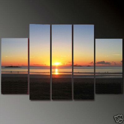 Modern Contemporary oil paintings on Canvas sunset glow painting set623