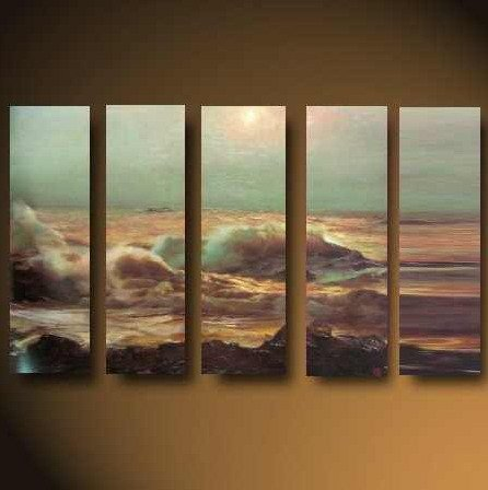 Modern Contemporary oil paintings on Canvas seascape painting set630