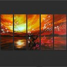 Modern Contemporary oil painting on Canvas flower painting set 652