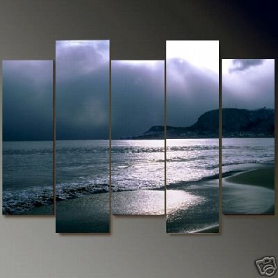 Modern Contemporary oil painting on Canvas seascape painting set 659