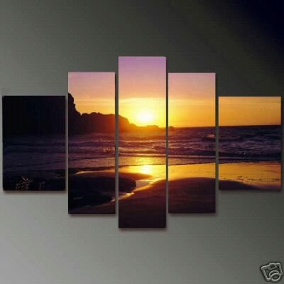 Modern Contemporary oil painting on Canvas sunset glow painting set 660