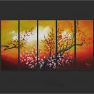 Modern Contemporary oil paintings on Canvas flower painting set662