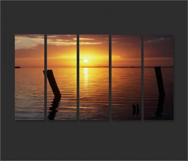 Modern Contemporary oil paintings on Canvas sunset glow painting set663