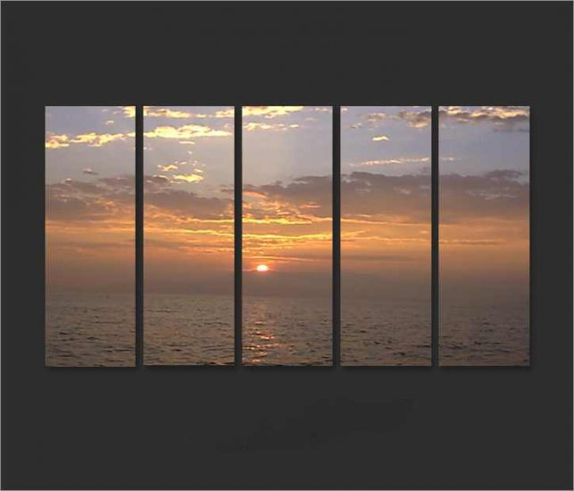Modern Contemporary oil paintings on Canvas sunset glow painting set678